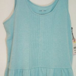 Turquoise Tank Peplum style Tackle&Tides. size M